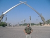 At the crossing sabres in Baghdad.
